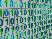 Codice binario. Fotografia Stock