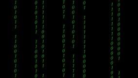 Codice binario astratto di Digital a colori archivi video