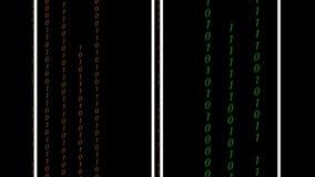 Codice binario astratto di Digital a colori illustrazione vettoriale