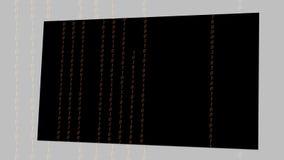 Codice binario astratto di Digital a colori illustrazione di stock