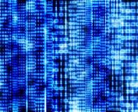 Codice binario astratto, schermo digitale blu Immagini Stock Libere da Diritti