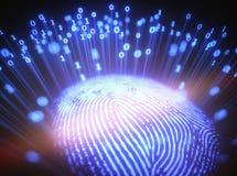 Codice binario dell'impronta digitale Immagine Stock Libera da Diritti