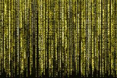 Codice binario giallo Fotografie Stock
