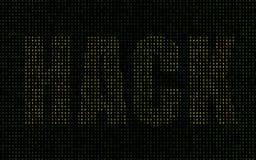 Codice binario verde giorno del pirata informatico Fotografia Stock Libera da Diritti