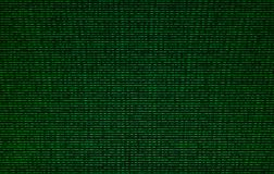 Codice binario verde sul fondo di struttura dello schermo di computer Fotografia Stock Libera da Diritti