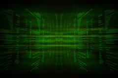 Codice binario verde sul nero Fotografia Stock