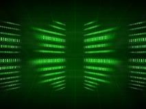 Codice binario verde sul nero Immagine Stock