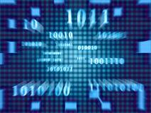 Codice binario (zoom veloce) Fotografia Stock