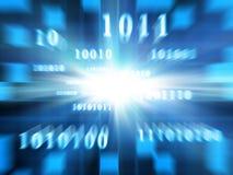 Codice binario (zoom veloce) Fotografie Stock