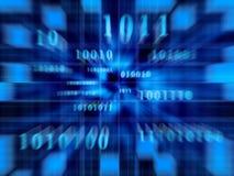 Codice binario (zoom veloce) Fotografia Stock Libera da Diritti