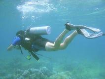 Codice categoria di immersione con bombole fotografie stock libere da diritti