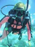 Codice categoria di immersione con bombole fotografie stock