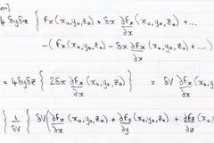 Codice categoria di per la matematica Fotografia Stock
