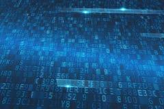 Codice crypted Internet Concetto di sicurezza di Internet fotografia stock libera da diritti
