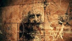 Codice Da Vinci Classic Retro Illustration illustrazione vettoriale