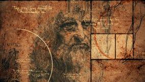 Codice Da Vinci Portrait Illustration illustrazione vettoriale