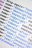 Codice del HTML Fotografie Stock Libere da Diritti