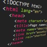 Codice del HTML e di CSS Immagini Stock Libere da Diritti