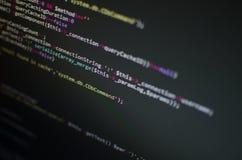 Codice del PHP CSS in monitor Immagine Stock Libera da Diritti