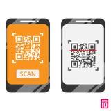Codice del telefono QR royalty illustrazione gratis