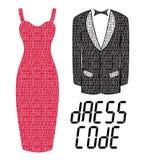 Codice di abbigliamento Immagini Stock