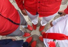 Codice di abbigliamento - rosso Fotografie Stock