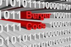 Codice di Berger Fotografia Stock