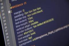 Codice di CSS immagini stock
