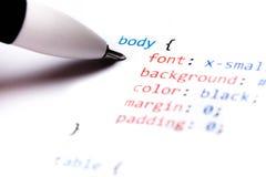 Codice di CSS Immagini Stock Libere da Diritti