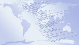 Codice di Javascript per WWW Immagine Stock