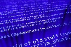 Codice di programma Immagini Stock
