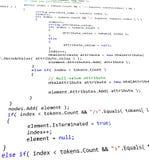 Codice di programmazione di software Fotografie Stock Libere da Diritti