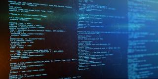 Codice di programmazione di software del fondo di tecnologia Fotografie Stock