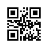 Codice di QR con la vendita codificata di parola Immagini Stock