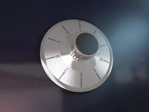 Codice di serratura sicuro sulla rappresentazione della banca 3d della scatola di sicurezza Immagini Stock