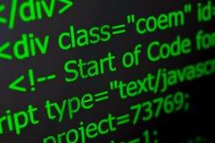 Codice di web Immagini Stock