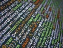 Codice generico di Javascript del Web page Fotografia Stock Libera da Diritti