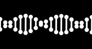 codice genetico del DNA 4k zoom reso di animazione della doppia elica sul video su fondo nero royalty illustrazione gratis