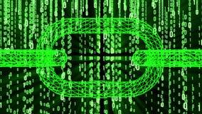Codice macchina binario di Blockchain illustrazione di stock