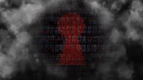 Codice macchina misterioso nella nebbia illustrazione vettoriale