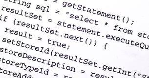 Codice sorgente Immagine Stock