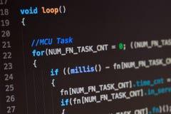 Codice sorgente di linguaggio di programmazione di C Immagine Stock Libera da Diritti
