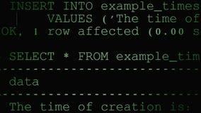 Codice sorgente principale Immagine Stock