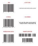 Codici a barre (vari) Fotografia Stock