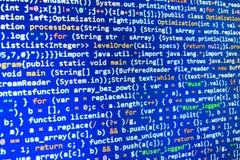 Codifica dello schermo di programmazione di codice sorgente Fotografia Stock