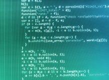 Codifica dello schermo di programmazione di codice sorgente Immagine Stock
