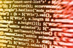 Codifica dello schermo di programmazione di codice sorgente Immagine Stock Libera da Diritti