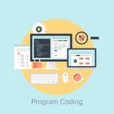 Codificación del programa stock de ilustración
