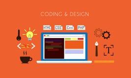 Codificación y diseño ilustración del vector