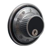Codifichi la serratura isolata sopra bianco Immagine Stock